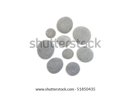 Composition from nature round stone