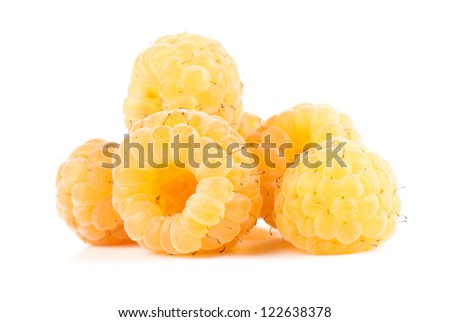 composition from  raspberry on the white isolated background