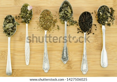 Composition of different tea leaves