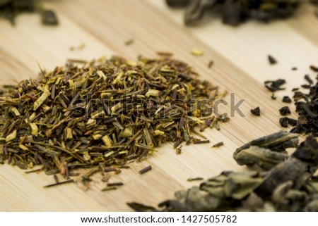 Composition of different types of tea leaves