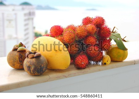 composition of exotic fruits #548860411