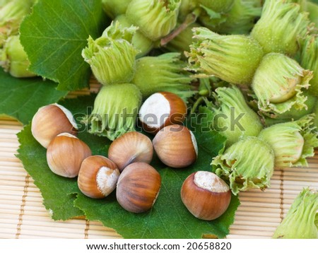 Composition of hazelnuts