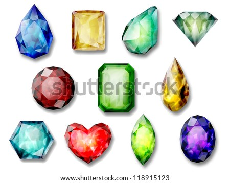 composition  of images of precious stones