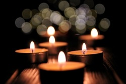 composition of many candles