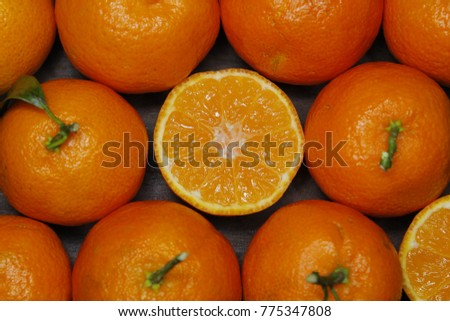 composition of oranges and tangerines #775347808