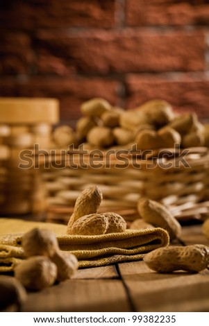 composition of peanuts on table