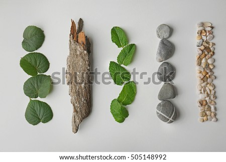 composition of pebbles  green...