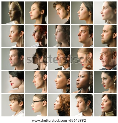 Composition of profiles of people of different ages