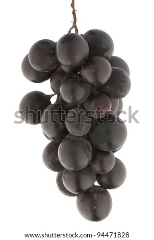 composition of the ripe grapes on a white background. studio photography