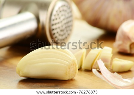 Composition with fresh garlic. Dietary supplement