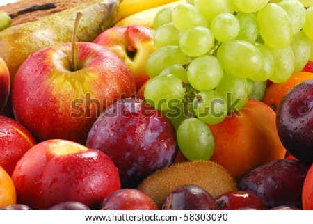 Composition with fruits - stock photo