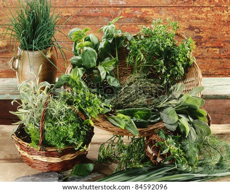Composition with herbs