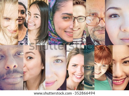 Composition with people of different ethnicity