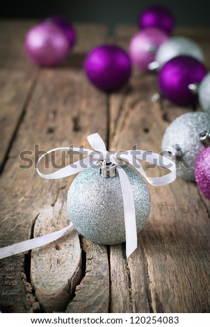 Composition with Silver Christmas Ball