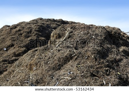 Compost big mountain outdoor ecological recycle industry environment fertilizer