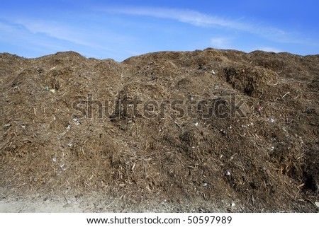 composting ecological compost  warehouse blue sky