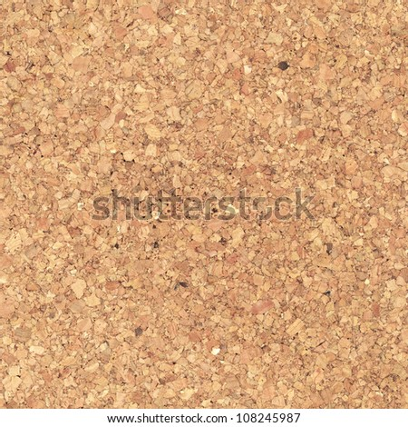 Compressed cork, wood board texture