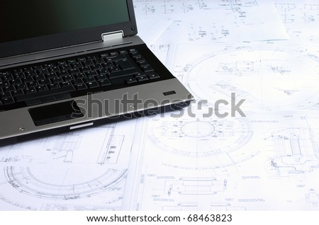 Computer aided design of mechanical engineering drawings.