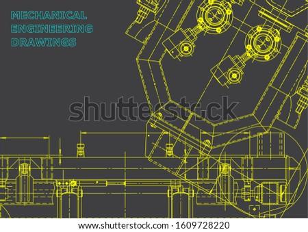 Computer aided design systems. Blueprint, scheme, plan, sketch. Technical. Gray
