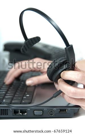 computer and telephone headphone