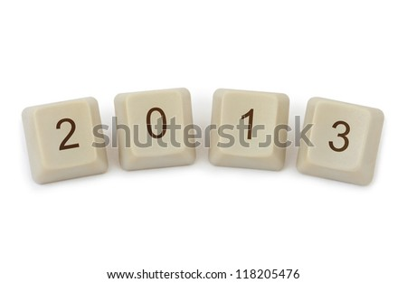Computer buttons 2013 iisolated on white background