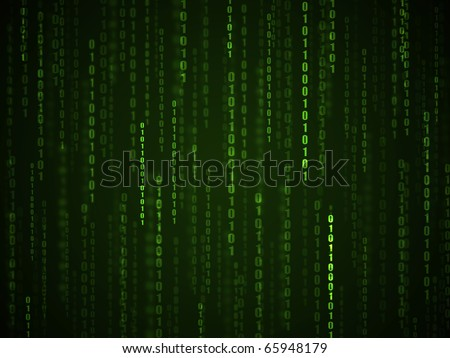 Computer calculation. Binary language green and black wallpaper.