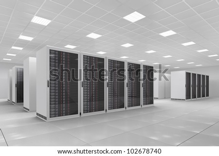 Computer Center with bunch of server racks