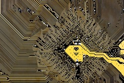 computer circuit board background close up
