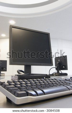 Computer classroom in a modern training center