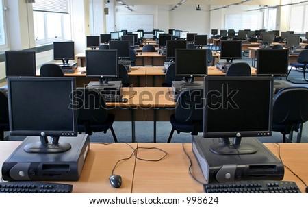 Racimo del ordenador en la universidad