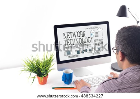 COMPUTER COMMUNICATION DATA AND NETWORK TECHNOLOGY CONCEPT #488534227