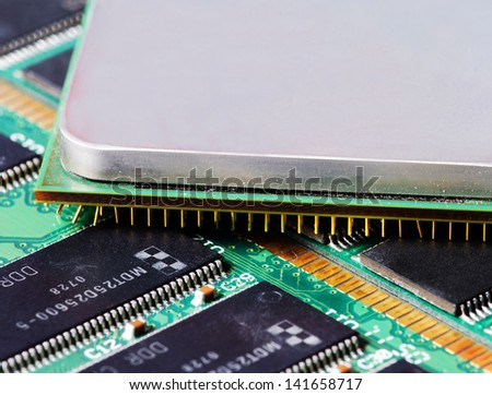 Computer components (ram modules and CPU)