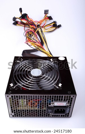 Computer cooler with wires for connection
