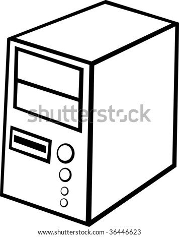 Computer Cpu Case Tower Stock Photo 36446623 : Shutterstock