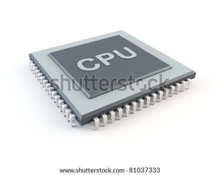 Computer CPU. Central processing unit - stock photo