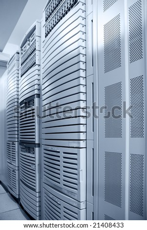 computer data center interior