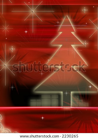 Computer designed christmas background - stock photo