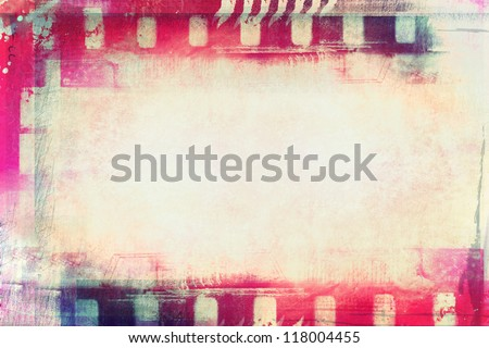 Stock Photo Computer designed high resolution grunge film frame with space for your text or image.