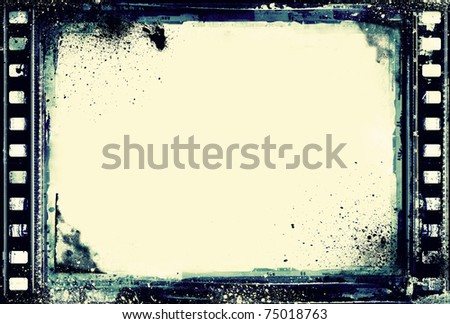 Computer designed high resolution grunge film frame with space for your text or image.