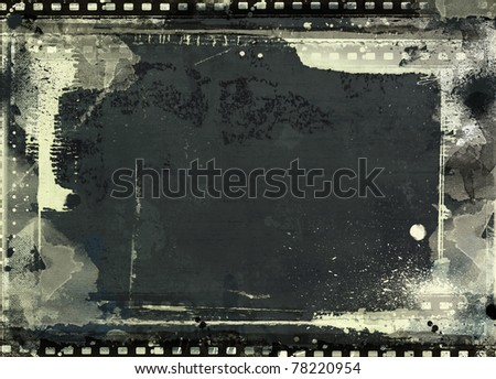 Computer designed highly detailed film frame with space for your text or image. Nice grunge element for your projects.