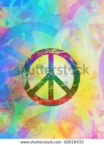 stock photo : Computer designed highly detailed grunge abstract textured collage - Peace Background
