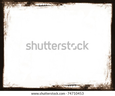 Computer designed highly detailed grunge border. Great grunge layer for your projects.