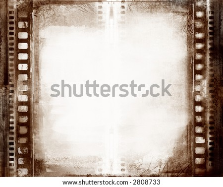 Computer designed highly detailed grunge textured film frame with space for your text or image