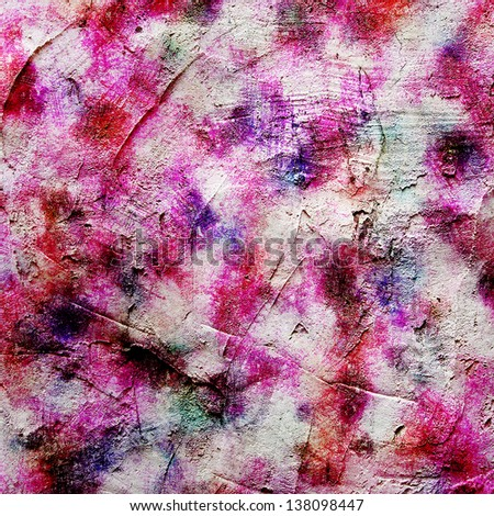 Computer designed vintage background, textures and painting added digitally. For are layout design, holiday background invitation or web template