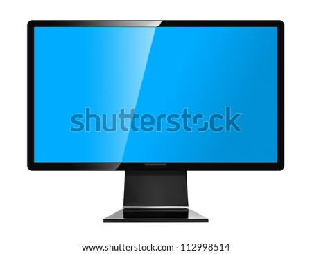 Computer display - isolated on white background