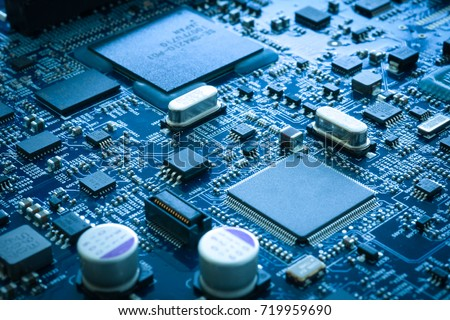 Computer electronic circuit board motherboard semiconductor