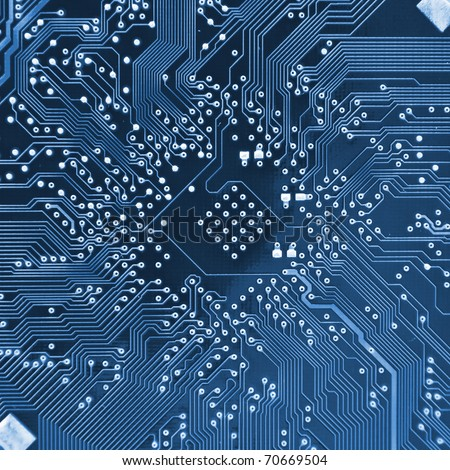 Computer electronic circuit. Use for background or texture #70669504