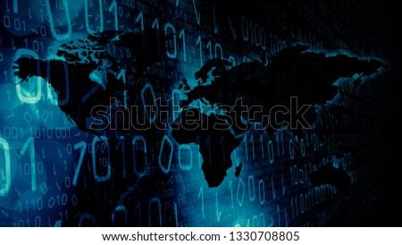 Computer espionage in cyber world Foto stock ©