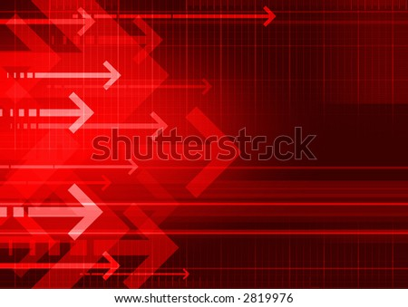 computer generated abstract background with arrows - stock photo