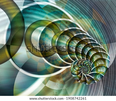 Computer generated abstract colorful fractal artwork for creative design, art, home decoration and entertainment Foto stock ©